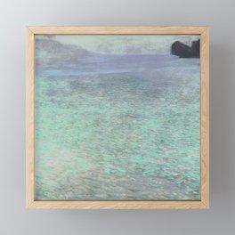 Klimt at Attersee Framed Mini Art Print
