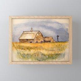 Barns and Windmill Framed Mini Art Print