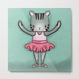 Dancing Tabby Kitten Metal Print