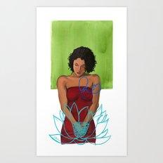 Amarican Lotus Art Print