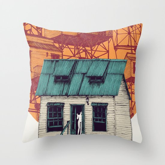 Going Down Throw Pillow