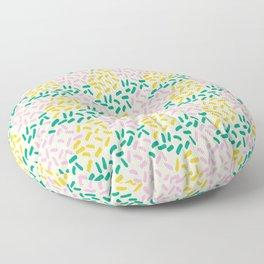 Field of lines in pastel Floor Pillow
