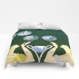 """1920's Art Deco Design """"Bubbles"""" Comforters"""