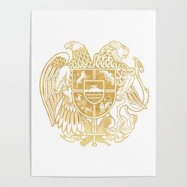 ARMENIAN COAT OF ARMS - Gold Poster