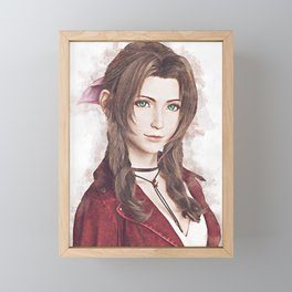 Aerith Final Fantasy VII Framed Mini Art Print