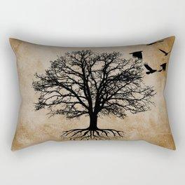 Tree of Life - Crow Tree A823 Rectangular Pillow