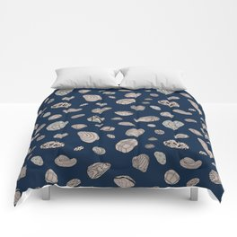 Blue Geos Comforters