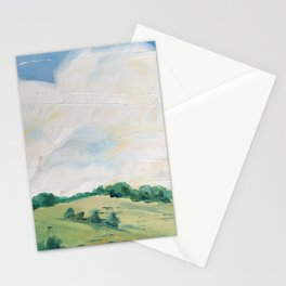 original abstract landscape painting number 10 Stationery Cards