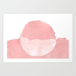 Minimal Pink Abstract 08 Landscape Art Print