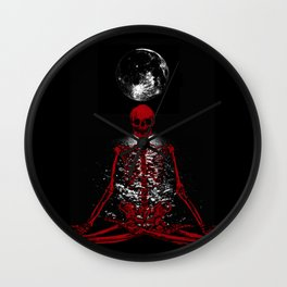 Moon Skelleton Wall Clock