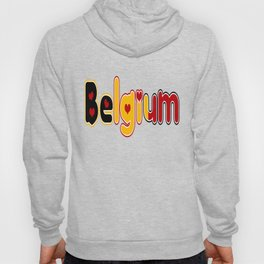 Belgium Font #2 with Belgian Flag Hoody