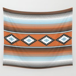 Modern Mexican Serape in Technicolor Wall Tapestry