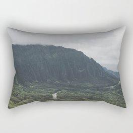 Through the Green Mountain - Hawaii Rectangular Pillow
