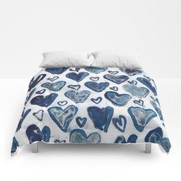 Hearts aplenty. Comforters