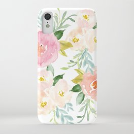 Sweet Pink Blooms (Floral 02) iPhone Case