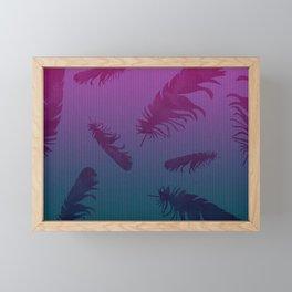 Falling Feathers Framed Mini Art Print