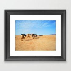 {camel train} Framed Art Print