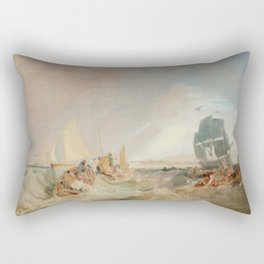 """J.M.W. Turner """"Shipping at the Mouth of the Thames"""" Rectangular Pillow"""