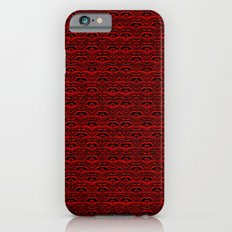Muster - rot-schwarz Slim Case iPhone 6s