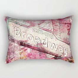 Broadway sign New York City Rectangular Pillow