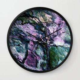 Textured Minerals Teal Green Purple Wall Clock