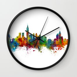 Taipei Taiwan Skyline Wall Clock
