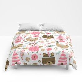 Pink Boho Animals Comforters