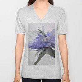 Ink Flower Purple Unisex V-Neck