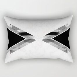 Three Triangles Geometric in B&W Rectangular Pillow