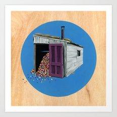 Sheds & Shacks   No:2 Art Print