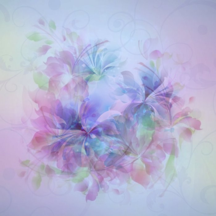 Soft Elegant Pastel Floral Abstract Comforters