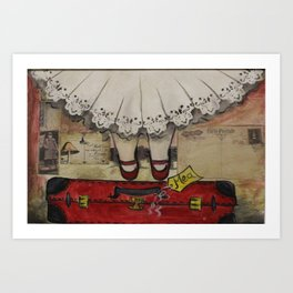 my red suitcase...  Art Print