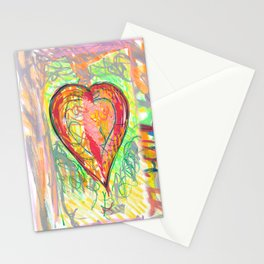 torn heart Stationery Cards