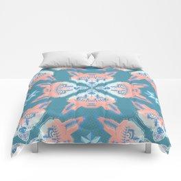 Pastel Fox Pattern Comforters