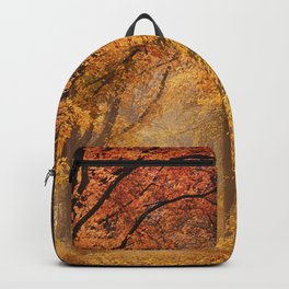 Autumn Fall Forest Path -  Nature Landscape Photography Backpack
