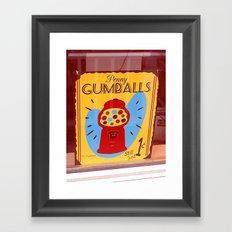Penny Gumballs Framed Art Print