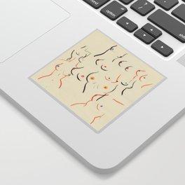 Breasts in Cream Sticker