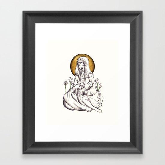Madonna of Plastic Framed Art Print