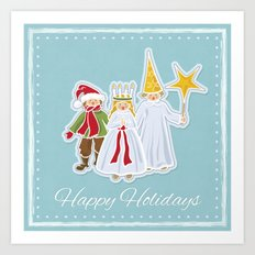Happy Holidays says Saint Lucia Art Print