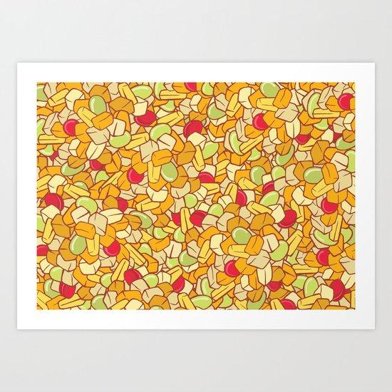 Canned Fruit Salad Art Print