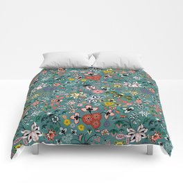 Boho Indienne (Peacock) Comforters