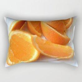 Orange Quarters Rectangular Pillow