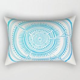 Quaking Aspen – Blue Ombré Tree Rings Rectangular Pillow