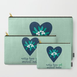 Merry Kisses & Warmest Wishes Carry-All Pouch