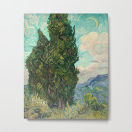 Cypresses by Vincent van Gogh Metal Print