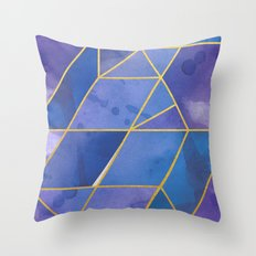 Shattered Sapphire 2 Throw Pillow