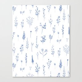 Wildflowers in blue Canvas Print