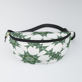 green kaleidoscopic pattern background Fanny Pack
