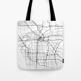 Minimal City Maps - Map Of Los Angeles, California, United States Tote Bag