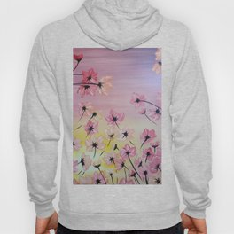 Blooming Flowers, Pink flowers, Floral Bloom, Blooming Light Hoody